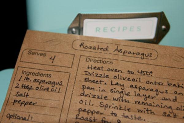 Brown Paper Recipe Bag Cards