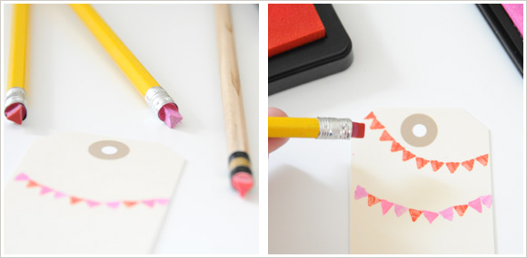pencil eraser stamp