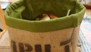 How to Upcycle a Coffee Sack into a Burlap Box