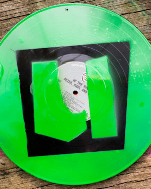 How-to: Stencil on Vinyl Record Albums to Create a Custom Upcycled Sign