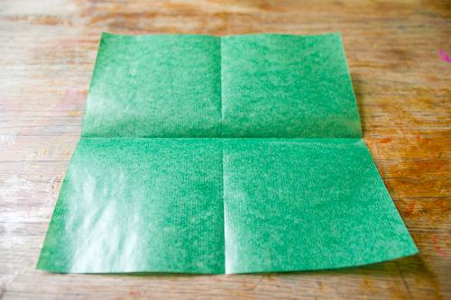 fold kite paper square in half both ways