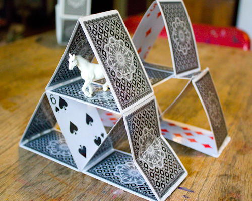 You can make some really great things out of old playing cards.