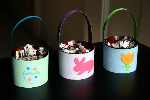 Materials Used For Making A Basket : Upcycled candle holder into a mini easter basket