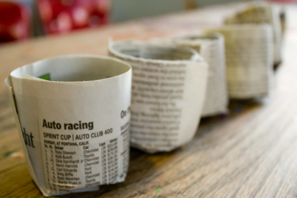 DIY Pots from Newspaper