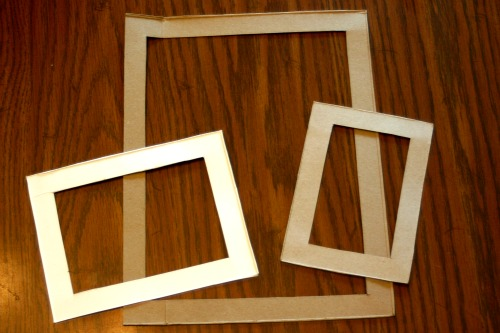 cut out your cardboard frames crafting a green world