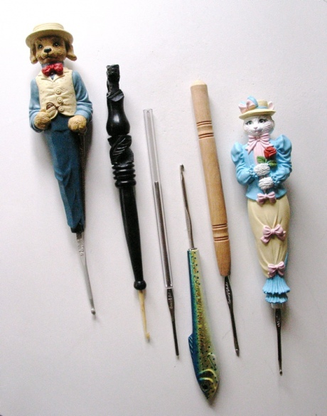 recycled crochet hook holders from LadyWillow TreeHouse
