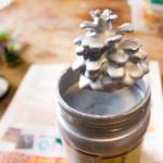 DIY Thanksgiving Centerpieces: Dipped Pine Cones