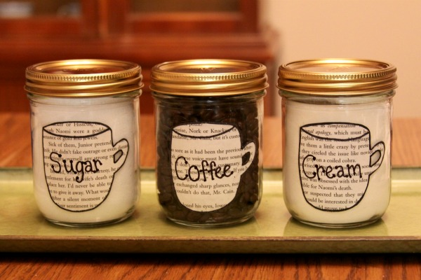 Recycled Diy Sugar Cream And Coffee Canisters