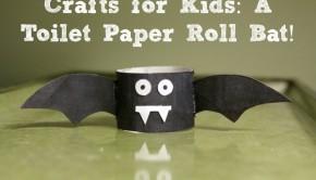 Make a Toilet paper Roll Bat