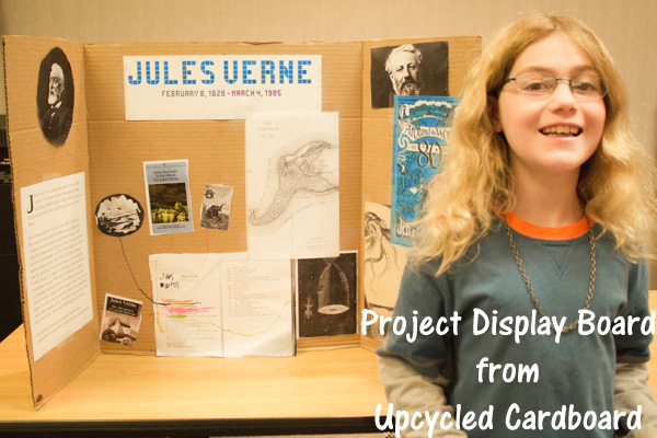 back to school ideas  a project display board from upcycled cardboard