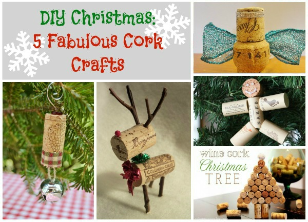 diy craft ideas for christmas diy 5 fabulous cork crafts crafting a green world 6453