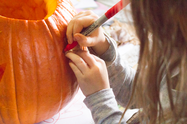 Holiday crafts leaf carved pumpkin crafting a green world - Making a pumpkin keg a seasonal diy project ...