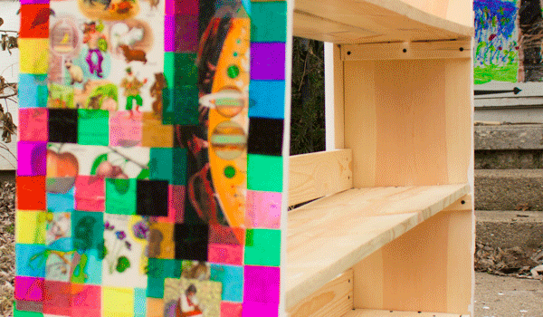 DIY Shelves: Decoupaged