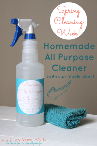 homemade all purpose cleaner all purpose cleaner with a printable label 31662