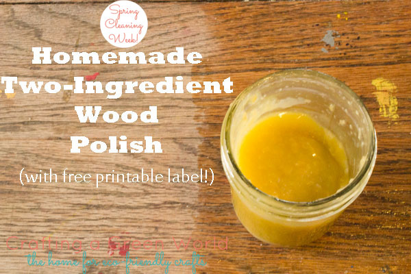 Homemade wood polish with only two ingredients for Homemade organic furniture polish