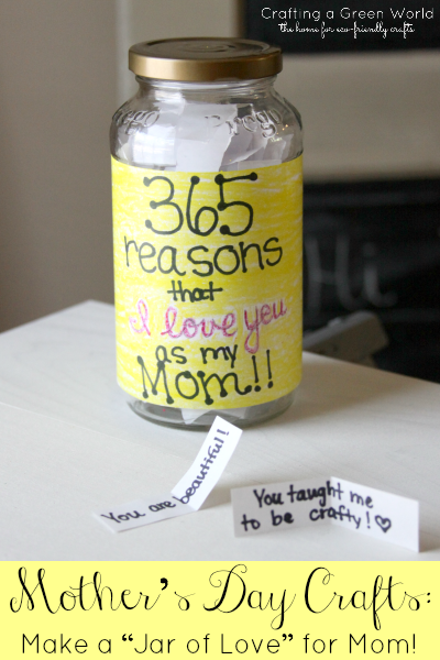 Mother 39 S Day Crafts Make A Jar Of Love For Mom