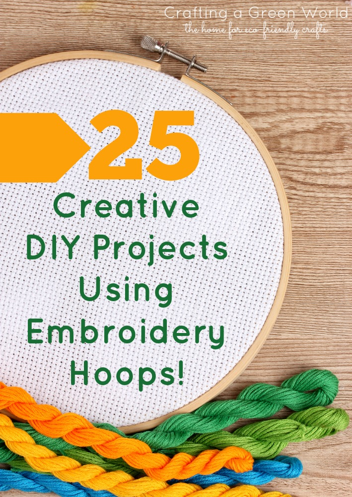 25 Creative DIY Projects Using Embroidery Hoops ...