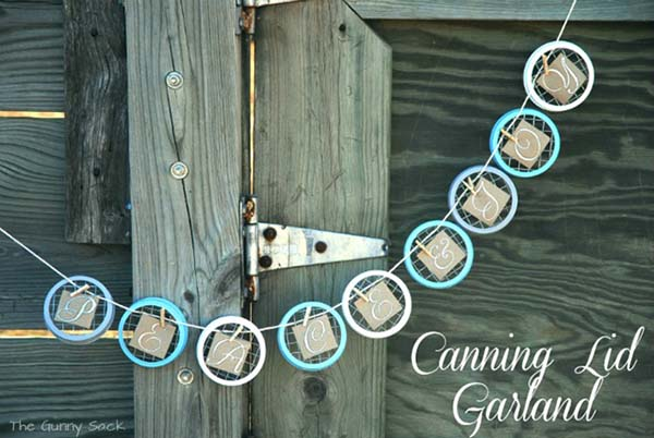 15 Mason Jar Lid Crafts