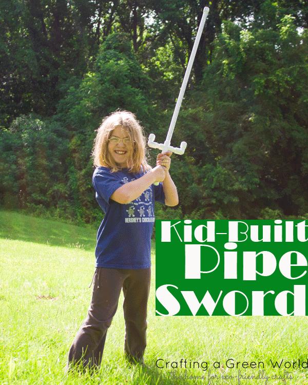 Kid-Built Pipe Sword