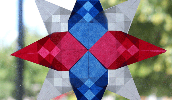 4th of July Window Star