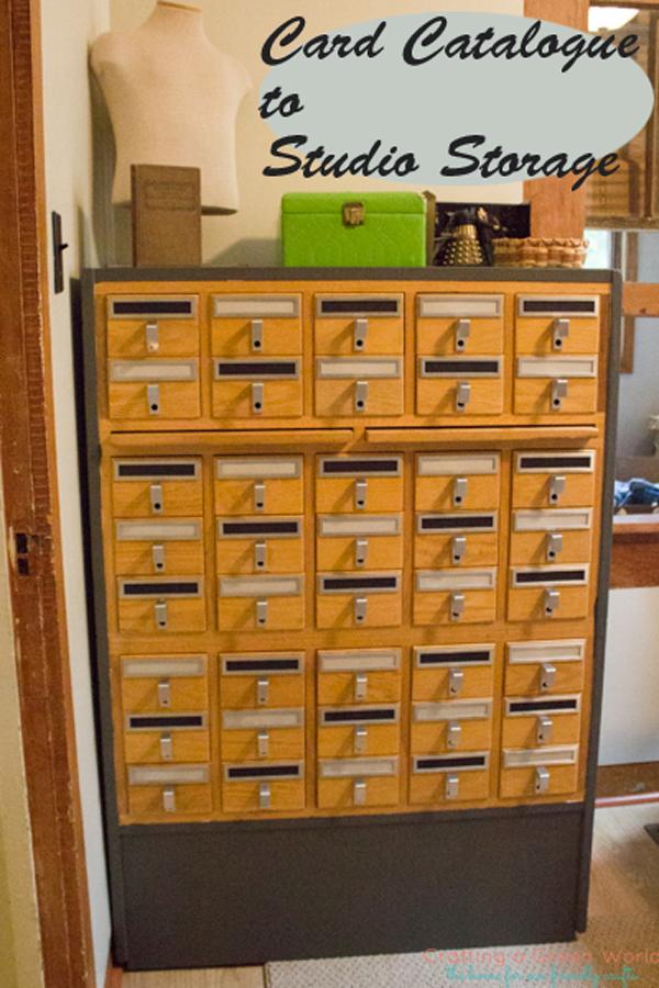 Card Catalogue into Studio Storage