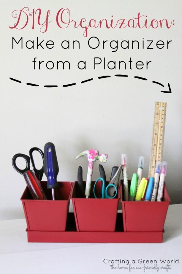 DIY Organization: Make an Organizer from a Planter