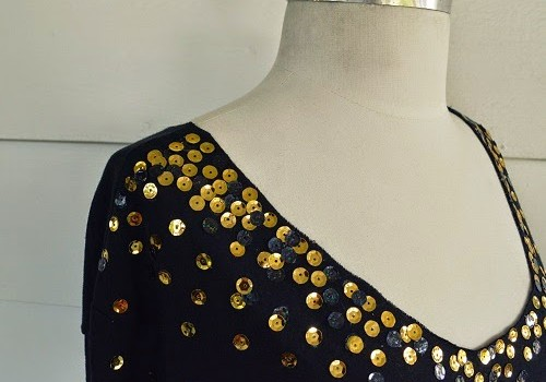 No-Sew DIY Sequin Top