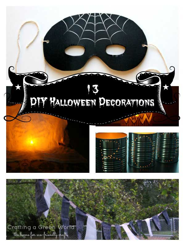 Diy halloween decorations for an upcycled halloween party Halloween party decorations ideas homemade