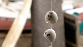 Eggshell Ghost Mobile and other Halloween Crafts