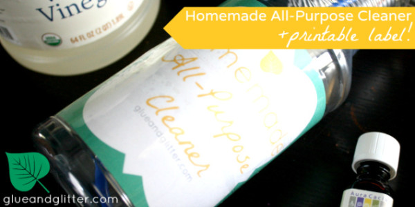 Cleaning Supplies: Homemade All Purpose Cleaner