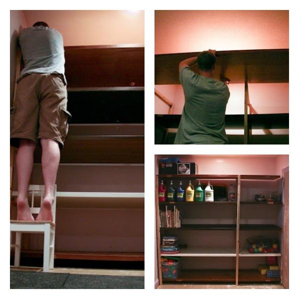 DIY Shelves from Old Doors