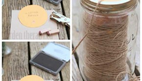 DIY Twine Dispenser from an Old Mason Jar