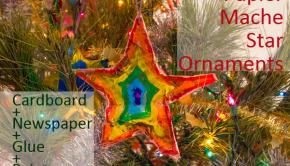 Papier Mache Star Ornaments