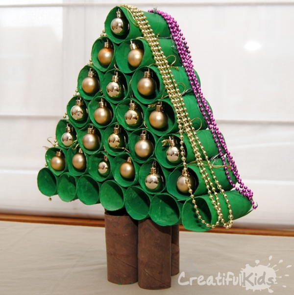 DIY Toilet Paper Roll Christmas Tree