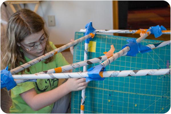 Cool Math Games: Newspaper Structure Volume Challenge