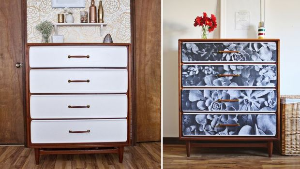DIY Furniture: Update an old dresser with a photograph!