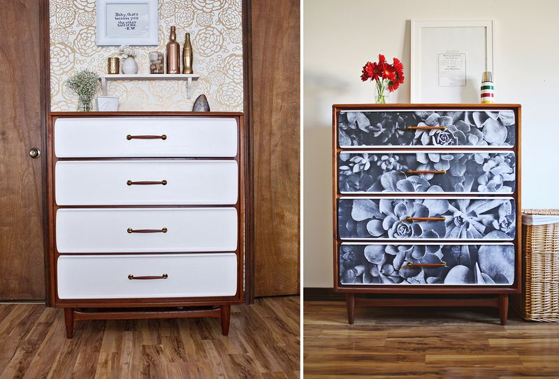 Diy Furniture Update An Old Dresser With A Photograph
