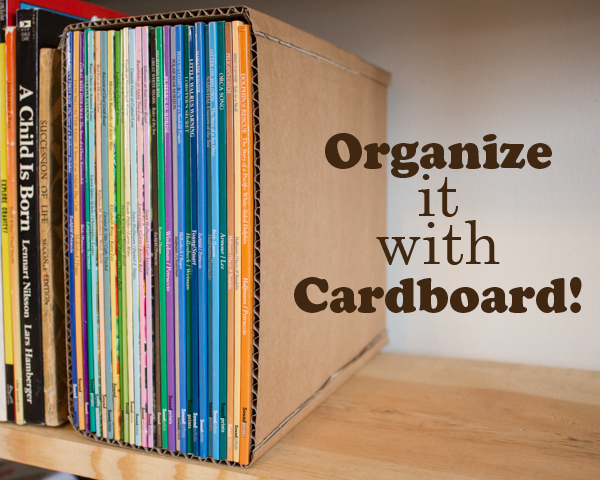 Organize It With Cardboard Upcycled Cardboard Organization Projects Crafting A Green World