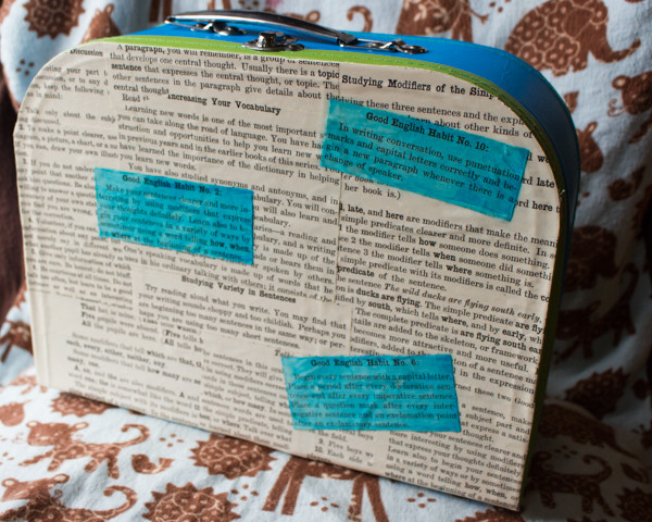 How to Make a Decoupaged Lunch Box