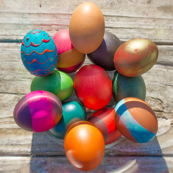 You Can Dye Brown Eggs