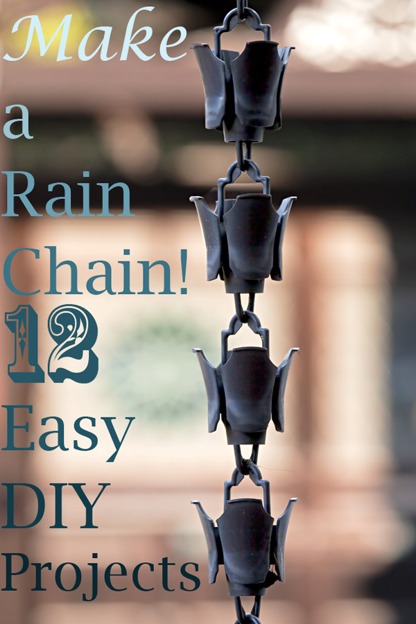 What is a rain chain? Here's how rain chains prevent erosion and 12 DIY rain chains you can make from recycled materials!