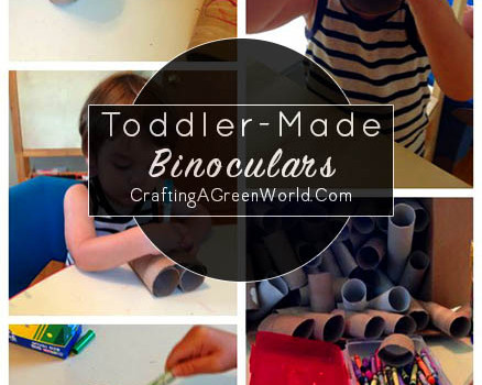 Binoculars Craft for Two to Four Year Olds - Last week I taught a binoculars craft at my son's preschool, and it was such a hit! Here are tips on how to do this craft project with the preschool set.