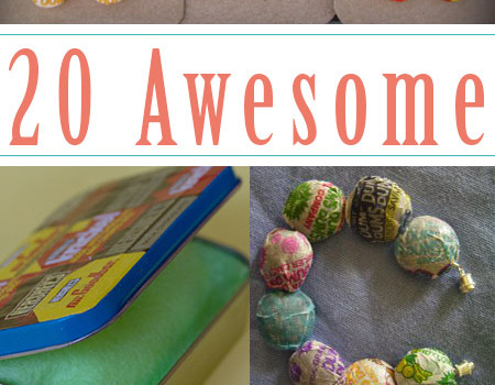 Do you have some surplus candy wrappers, too? Try one of these amazing candy wrapper crafts to use them up!