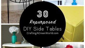 Don't buy new -- reduce, reuse, redecorate! Today we're sharing 30 repurposed DIY side table ideas to inspire you!
