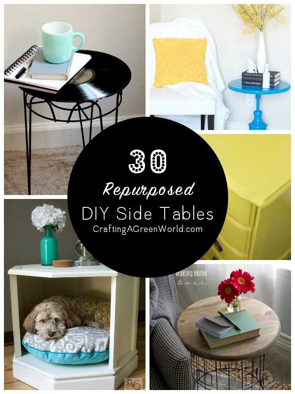 30 Diy Side Table Ideas Reduce Reuse Redecorate