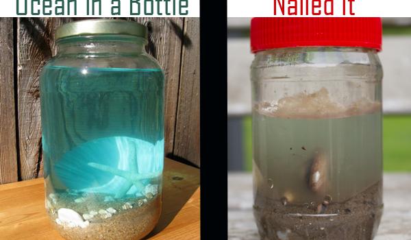 Ocean in a Bottle: Witness my Epic Pinterest Fail!