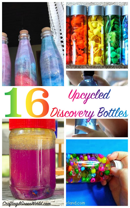Discovery bottles are fun for all kinds of kids. Babies and toddlers love to explore them, and for big kids, they can demonstrate interesting scientific concepts, or be used as learning manipulatives, or even serve as a tool for helping them calm their big feelings.