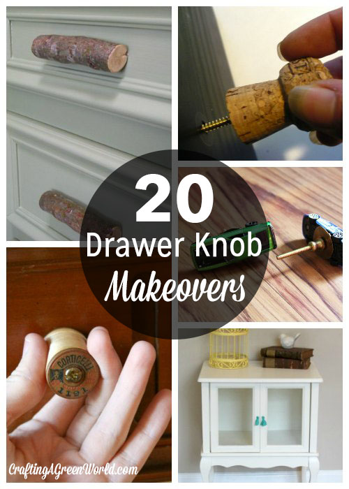 20 DIY Drawer Knob Makeover Ideas - Instead of buying new, try a DIY drawer knob makeover to save some money and reduce your renovation waste a little bit.