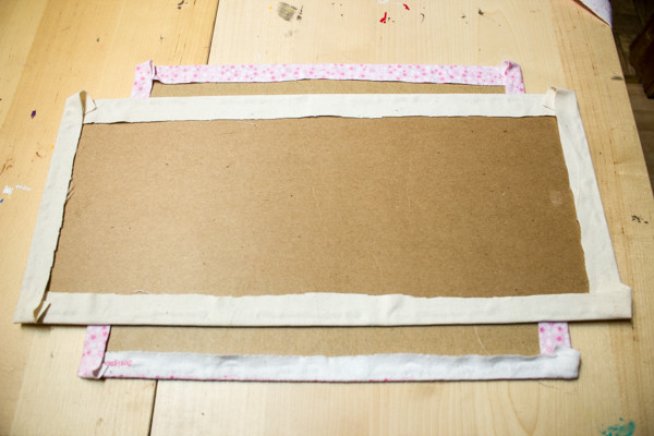 Refinish a Picture Frame using Paint and Fabric