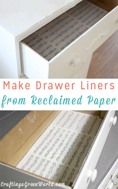 kitchen cabinet paper liner diy drawer liners from reclaimed paper 19278